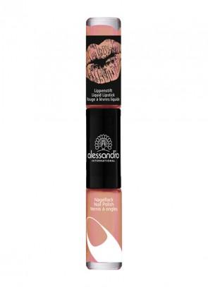 alessandro Perfect Pair 2 in 1 Liquid Lipstick & Nail Polish Mousse au Chocolat
