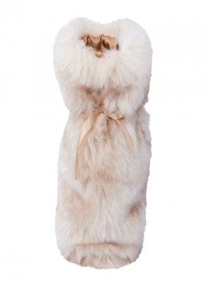 Winter Home Giftbag Sandwolf - Geschenk Tasche für Wein & Champagner
