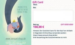 Geschenkgutschein 150,- €