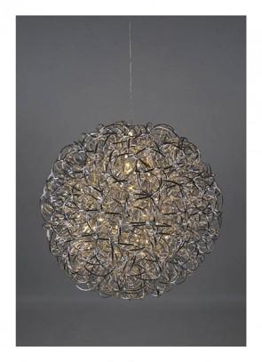 Am Design LED Kugelleuchte silber Ø 40cm