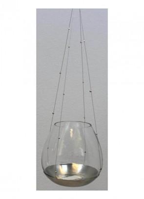 Cor Mulder Gl.- Teelicht-Hänger 12,5 cm silber