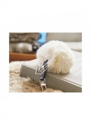 Winter Home Schlüsselanhänger aus Kunstfell